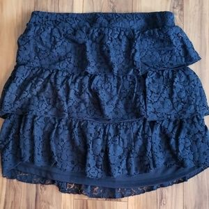 Tiered Navy Skirt Maurices